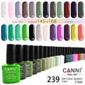 #30917 CANNI 7.3ml Gel Nail Polish 239 Color Polish DIY Nail Art Colorful Gel Polish Glaze Paint Colored Gel Lacquer Varnish