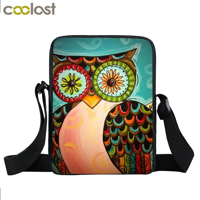 Cartoon Owl Dream Catcher Mini Messenger Bag Boys Girls Shoulder Bags Kids Crossbody Bags Children Travel Bag Best Gift