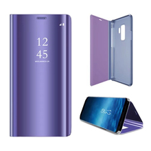 S9+ Smart Flip Stand Mirror Case For Samsung Galaxy S9 S 9 Case Clear View PU Leather Cover For Samsung Galaxy S9 Plus S9+ Case cover case for samsung galaxy s9 luxury ultra thin flip stand pu leather