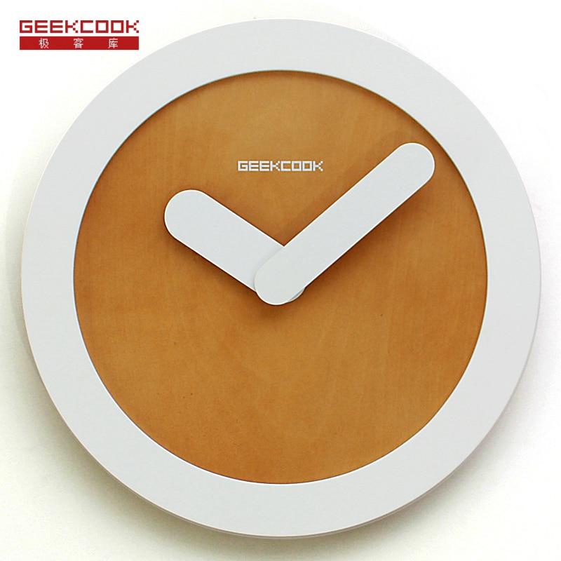 Creative Simple Wood Wall Clock Modern Design Digital Diy Wall