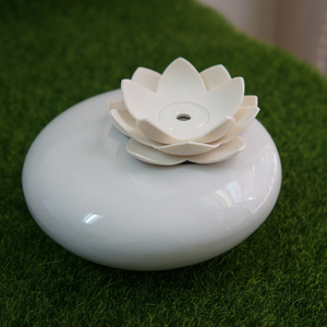Image 5 - 200ml Ultrasonic Ceramic Humidifier Air Diffuser Lotus Purifier Atomizer essential oil diffuser difusor de aroma mist fogger