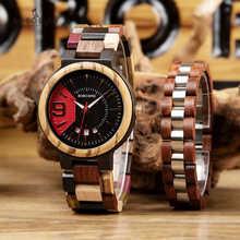 reloj hombre BOBO BIRD Men Watch Bracelet Set Wooden Timepieces Date Display Japan Movement Quartz Watches Men's Great Gifts - DISCOUNT ITEM  40% OFF All Category