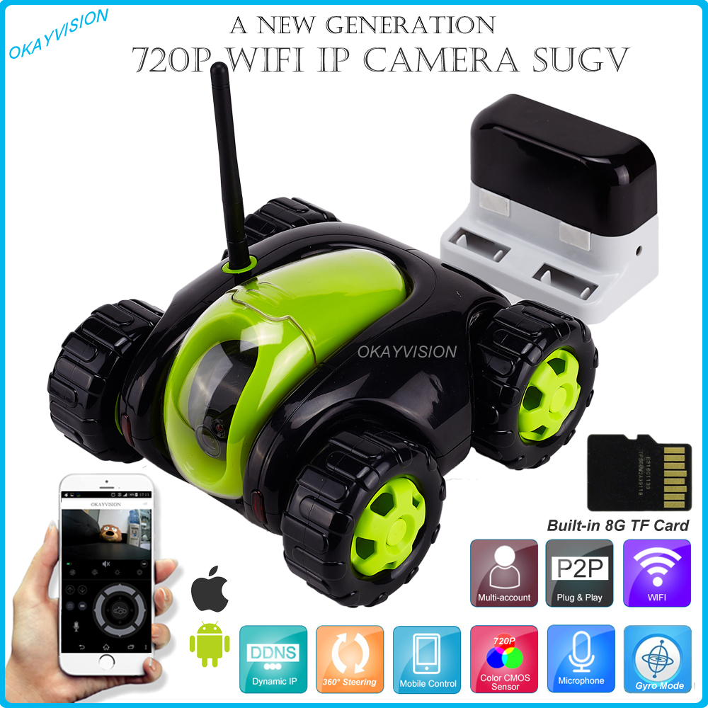 720p wifi FPV RC Car Vehicle Drone with Camera Remote Surveillance&Control Real-time Video Cloud Companion A Removable IP Camera plush toys simulation dog