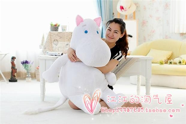 large 100cm cartoon Moomin hippo plush toy hugging pillow toy birthday gift h611 huge lovely white creative hippo toy plush doll cartoon moomin hippo doll pillow birthday gift toy about 100cm