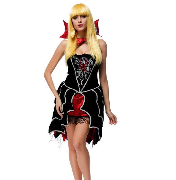 Gothic Sexy Costume Halloween Dress Costume Sexy Witch Vampire Costume Women Masquerade Party Halloween Cosplay Costume