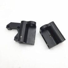 1 zestaw Prusa i3/Anet A8 upgrade części osi X aluminiowe części osi X X zestaw koła pasowego prawy/lewy z napinacz pasa osi X.