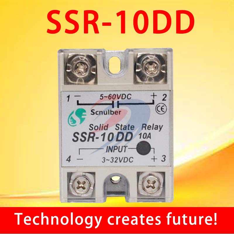 SSR -10DD DC control DC 10A SSR Single phase Solid state relay 10A input  3-32V DC output 5~60V DC