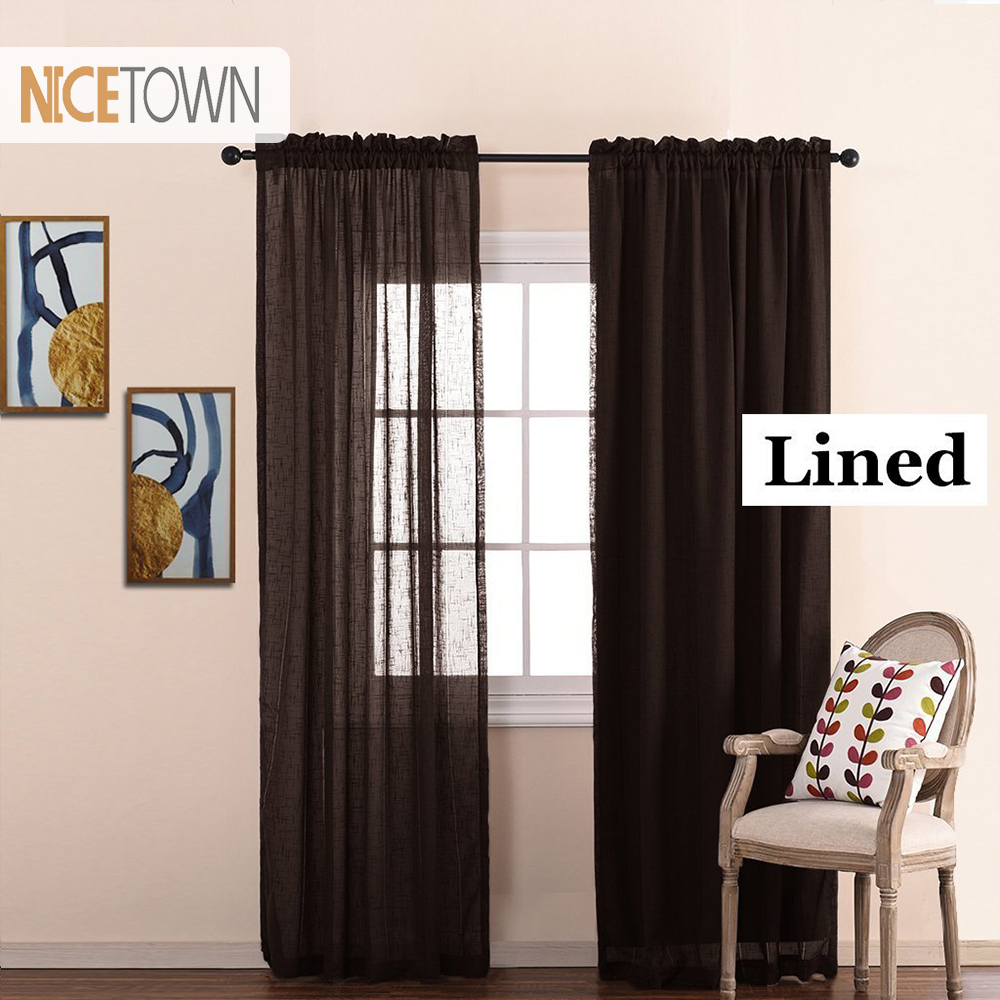 1pair Fabric Insulated Blackout Curtain Liners Noise