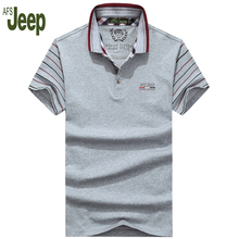AFS JEEP/Battlefield Jeep 2017 new spring and summer casual polo shirt men solid color short sleeves slim polo shirt 50