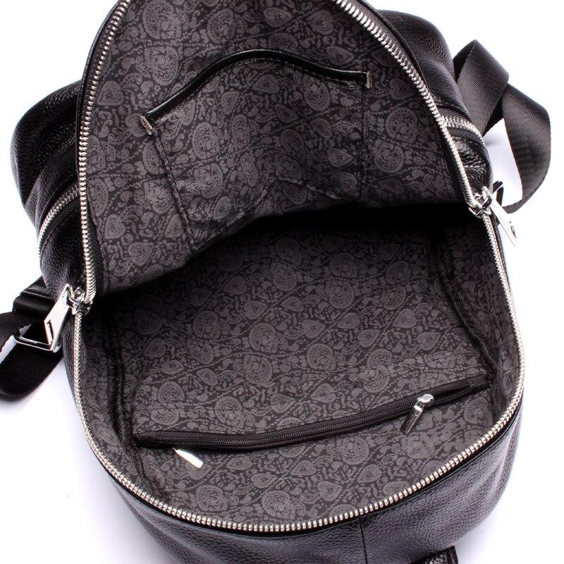 Модный 2019 женский 100% дизайнерский рюкзак из натуральной кожи черный женский маленький рюкзак для путешествий для девочек подростков; Sac A Dos Femme - 4