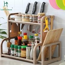 Луи Мода кухня Остров тележка пол два пола многофункциональный держатель для хранения ножей Тип пола простой современный