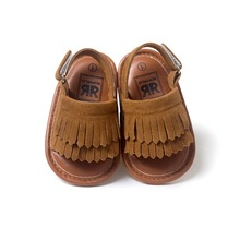 brown color newborn baby sandals leather tassel baby mocassins hot moccs sandals for baby girls boys