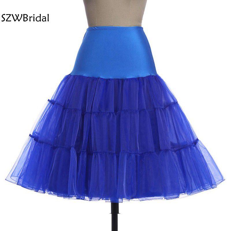 Fashion A-Line Short Petticoat Colorful Short Underskirt Knee Length Bridal Tulle Petticoats For Wedding Dress Petticoat 2020