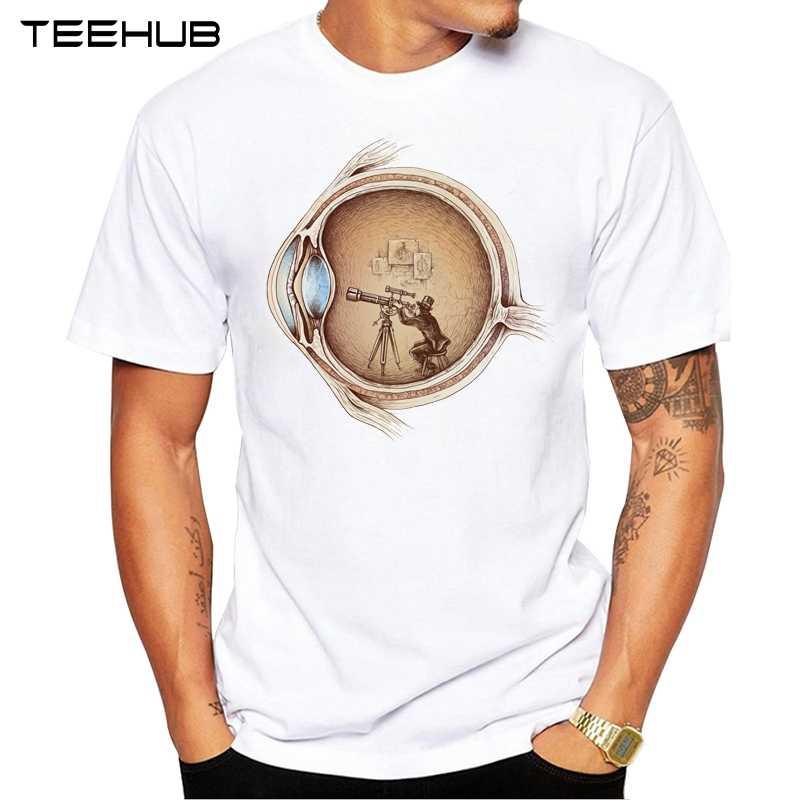 Новые поступления 2019 teehub крутая Мужская мода экстраординарный глаз дизайн футболка с коротким рукавом o-образным вырезом Топы хипстерская безрукавка