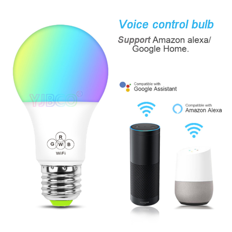 Купить с кэшбэком 4.5W/6.5W WiFi Smart LED Bulb Music E27 Wifi Voice Control Color temperature/RGBW Timing Light Bulb for Android 4.0/IOS9.0