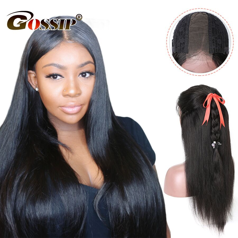 2x6 Lace Front Human Hair Wigs Straight Lace Front Wig For Black Woman Gossip Remy Hair