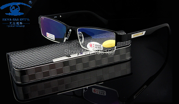 Eyewear amp Accessories New with Handmade Case Stainless Steel Half Frame Reading Glasses Men Presbyopia 1 00 1 50 2 00 2 50 3 00 in Men 39 s Reading Glasses from Apparel Accessories