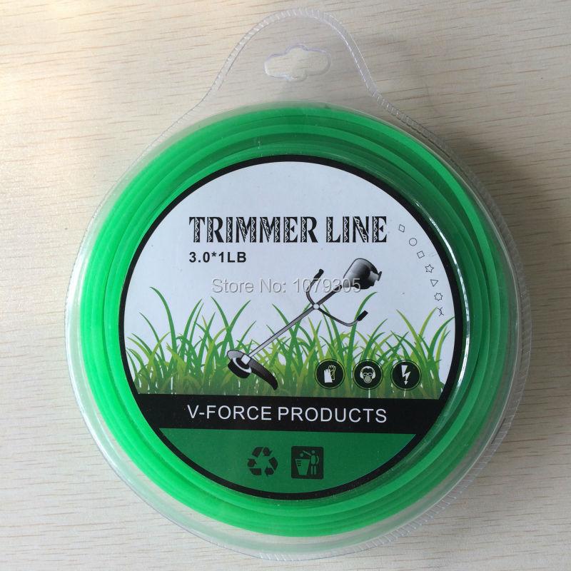 1LB 0.440kg 3.0mm dia. brush cutter lawn mower accessories rice cut machine plastic rope nylon grass rope line