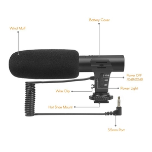Image 3 - Shoot Xt 451 캐논 카메라 캠코더 Dv 스마트 폰용 3.5Mm 잭 핫슈 마운트가있는 휴대용 콘덴서 스테레오 마이크 마이크