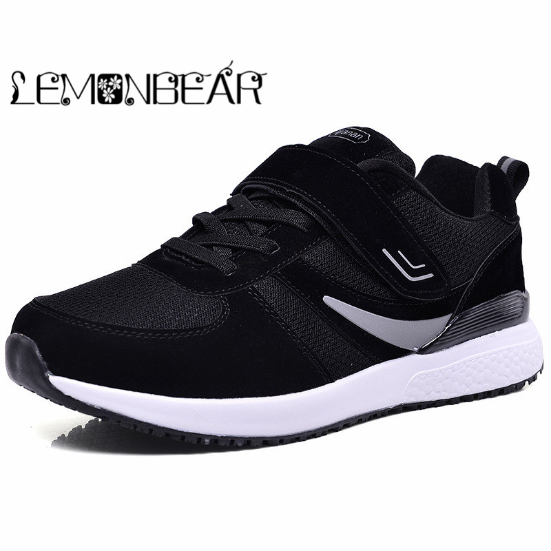 Autumn winter new men's Mujer casual shoes soft breathable lightweight shock absorber flat shoes with protective feet shoes gift