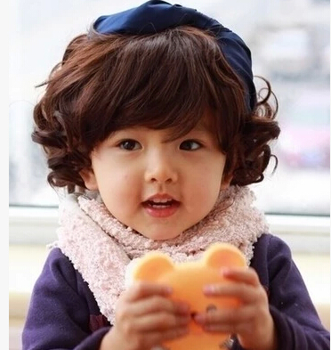 Free Shipping Girls Short Curly Wigs 2015 0 To 8 Year Old Children Nature Hair