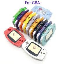 Konut Shell kılıf kapak + ekran Lens koruyucu + sopa etiket için Gameboy Advance GBA konsolu