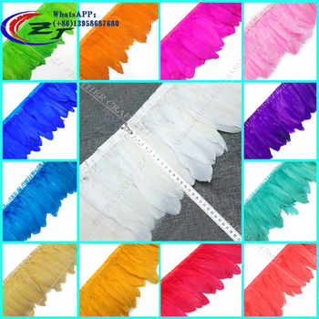 10 Yards 15-17cm 20Color Natural Goose Feather Trim Bride Wedding Party Decoration Feather Ribbon Fringe DIY Clothes Accessories - DISCOUNT ITEM  0% OFF All Category