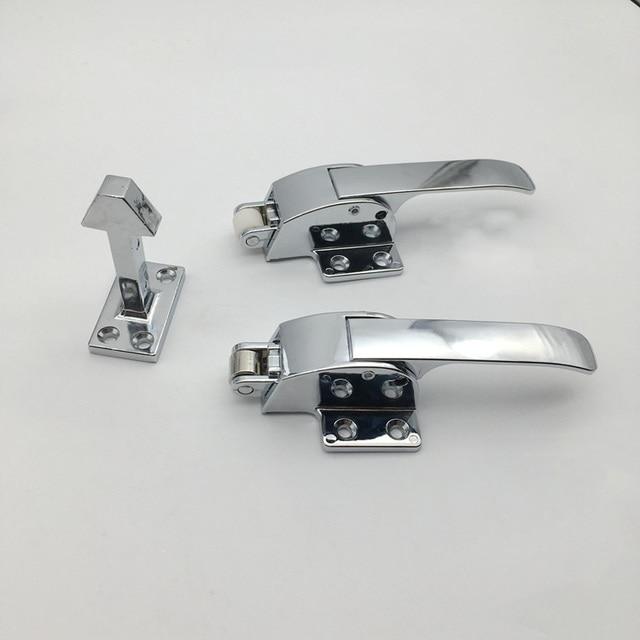 Double Hook Knob Freezer Handle Oven Door Hinge Cold Store Storage Door  Lock Latch Hardware Pull