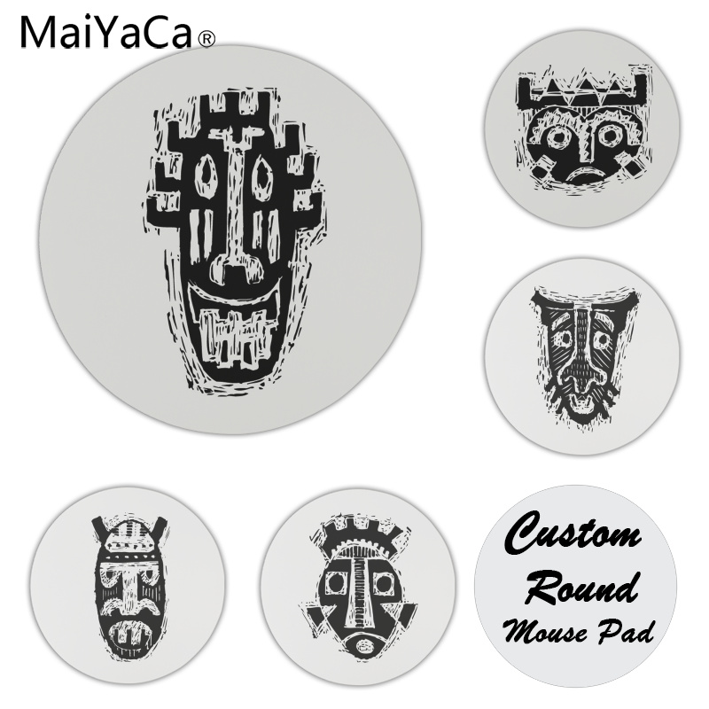 MaiYaCa New Printed Original face Customized laptop Gaming mouse pad Size for 20x20cm 22x22cm Small Mousepad