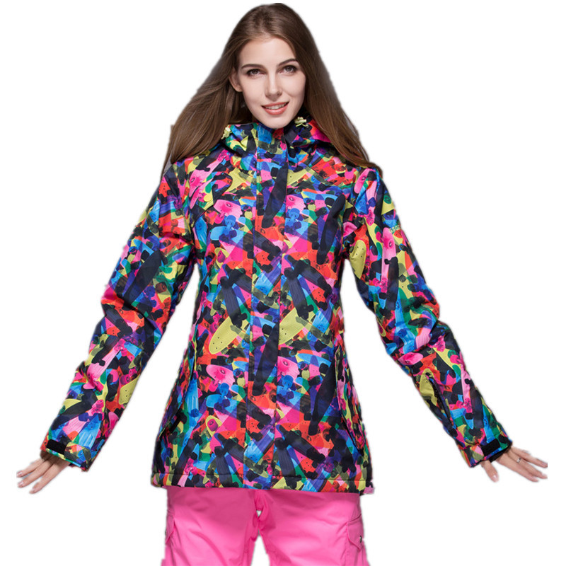 GSOU SNOW Ladies Snowboard Jacket Women s Ski Jackets and Coat Waterproof  Windproof Winter Jacket 4f4d3f4eb