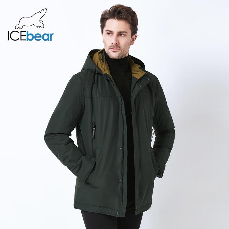 ICEbear 2019 hoge kwaliteit jas herfst nieuwe casual kraag mannen jas afneembare hoed merk mannen MWC18123I-in Parka's van Mannenkleding op  Groep 2