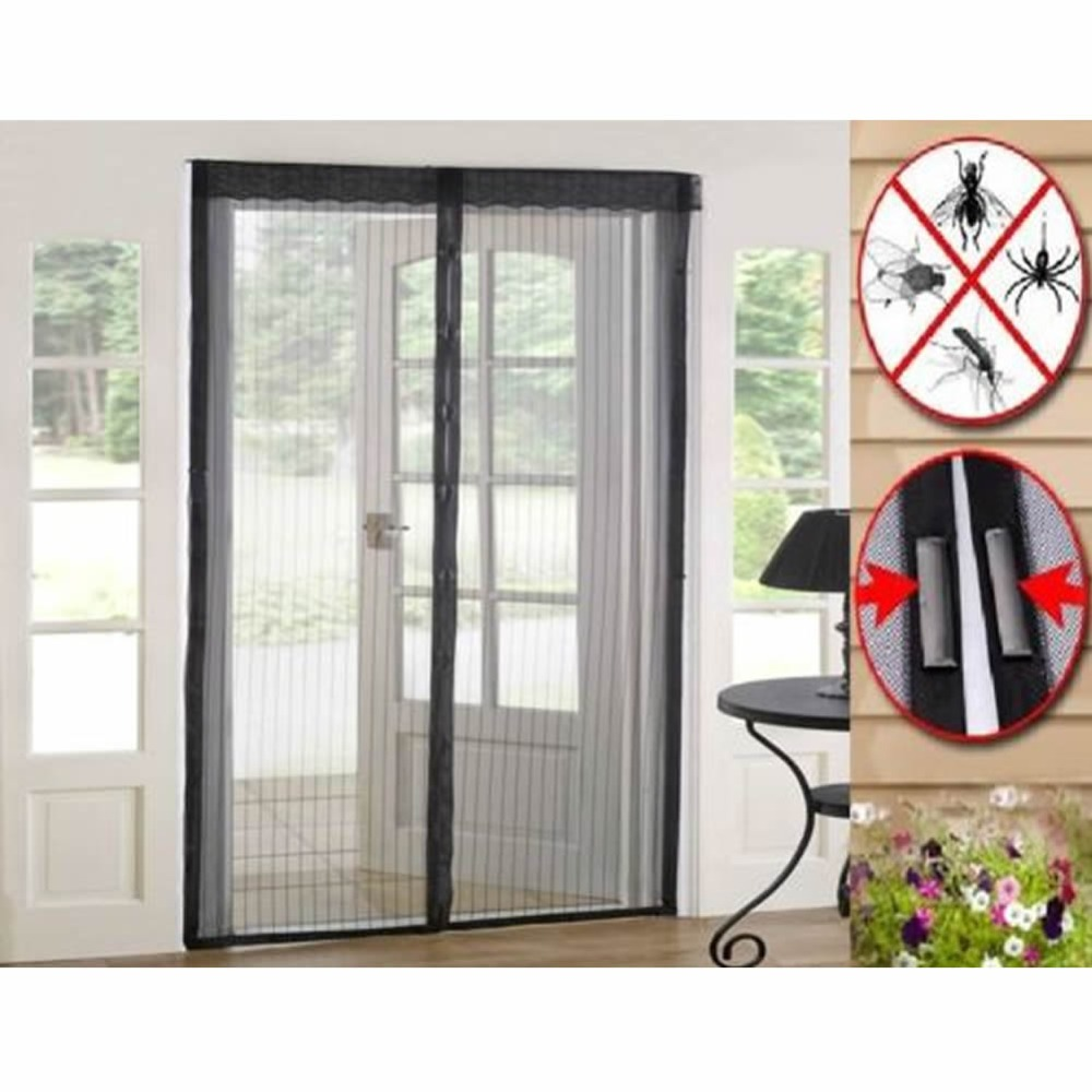 Fly screens for doors and windows - Magnetic Mesh Door Screens Magic Curtain Anti Bug Insect Mosquito Fly Home Screen Net Hot