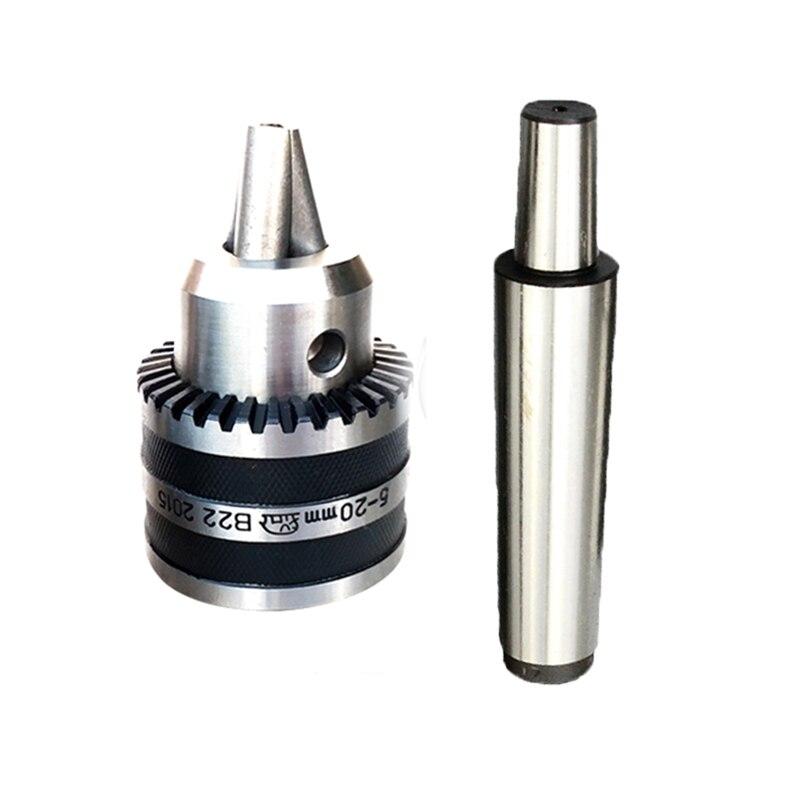 Livraison gratuite précision morse tapper cône MT2 MT3 MT4 B22 filetage M10 M12 M16 mandrin de forage 5-20 MM cône pour outil de forage