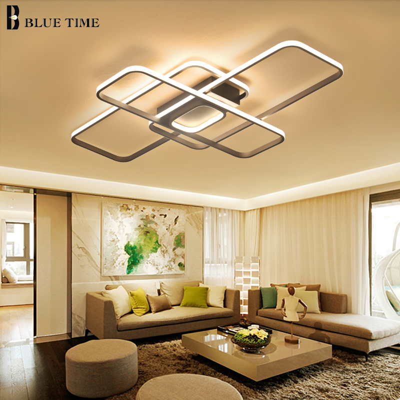 Square Minimalist Modern Led Ceiling Lights For Living Room AC 85-265V Square Acrylic Led Ceiling Lamp Fixtures Plafonnier Lampa