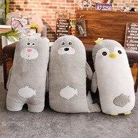 1pc 65cm Cute Penguin&Polar Bear&Sea Lion Plush Pillow Home Sofa Stuffed Animal Doll Toy Soft Cushion Hot New Gift for Friends