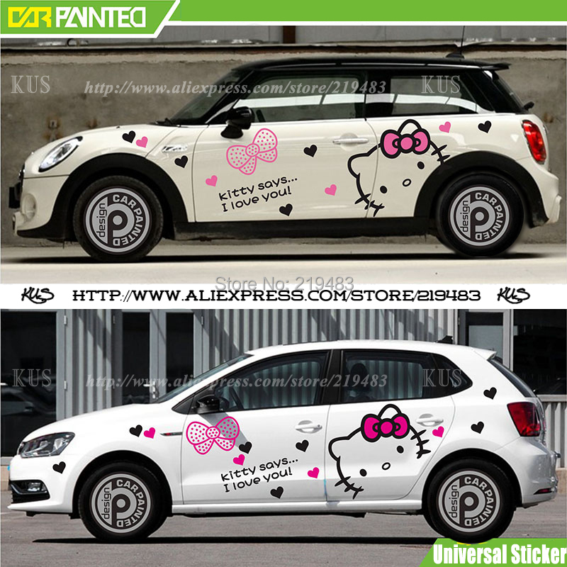 Whole car sticker design cute kitty cat car body sticker hood decals car accessories cartoon 3d universal sticker on car on aliexpress com alibaba group