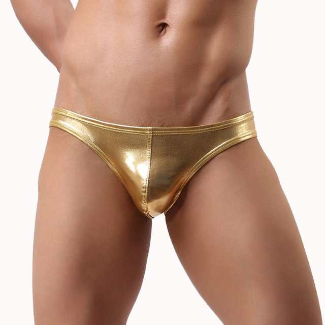 233b4a6f15 Online Shop Sexy Fashion Men Leather Underwear Sexy Low Rise Men's Gold  Briefs Sheer Hipster hombre gay underwear jockstraps | Aliexpress Mobile