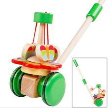 baby wooden toys kids cart Walker Animal trolley Childrens educational Montessori Educational Toy Baby walkers/gifts for