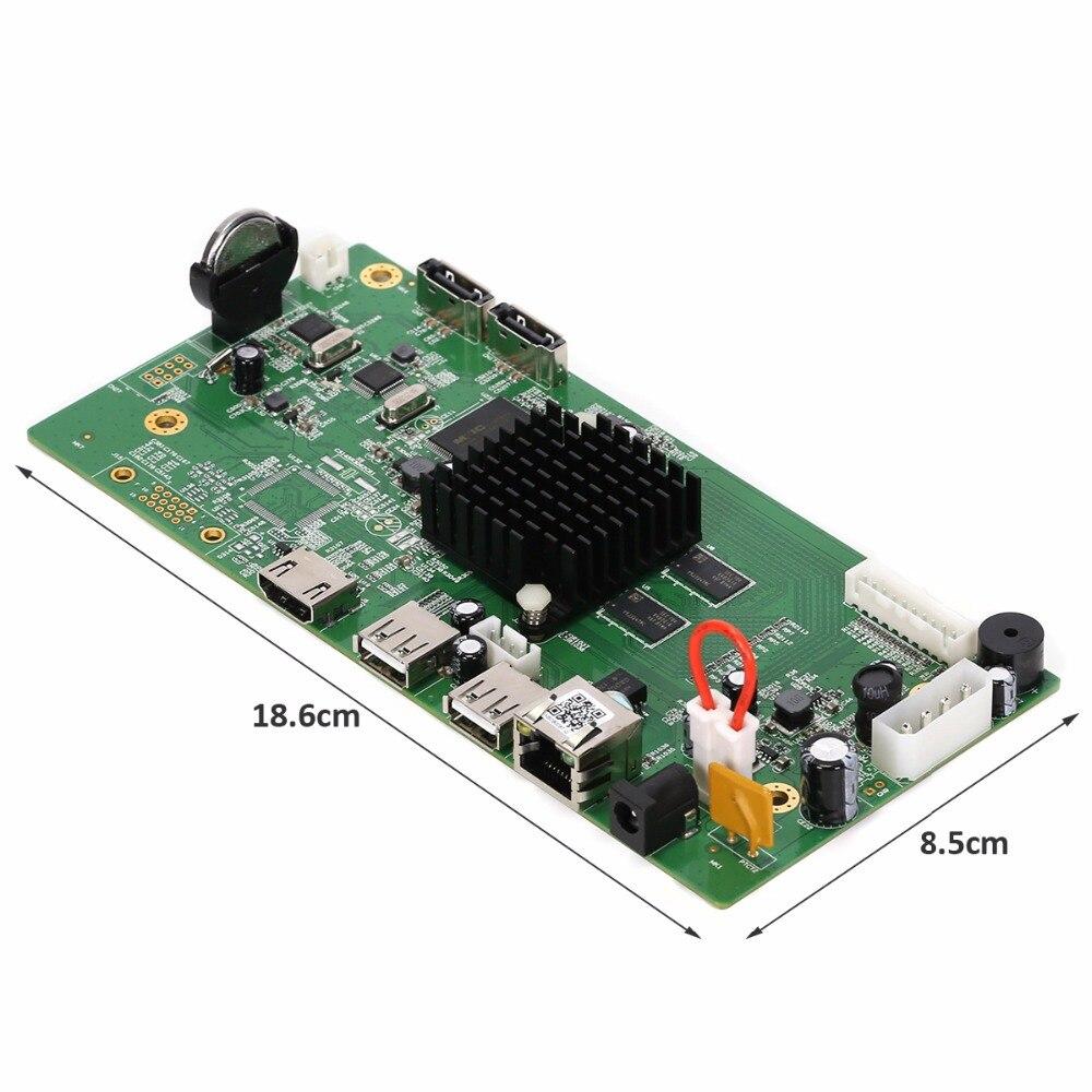 AZISHN 8CH HI3798M CCTV H.265 NVR Conseil HDMI VGA 4 K NVR de sécurité Module 4CH 5MP/8CH 4MP XMEYE P2P Détection de Mouvement NBD8008T-Q