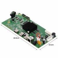 AZISHN 8CH HI3798M CCTV H 265 NVR Board HDMI VGA 4K Security NVR Module 4CH 5MP