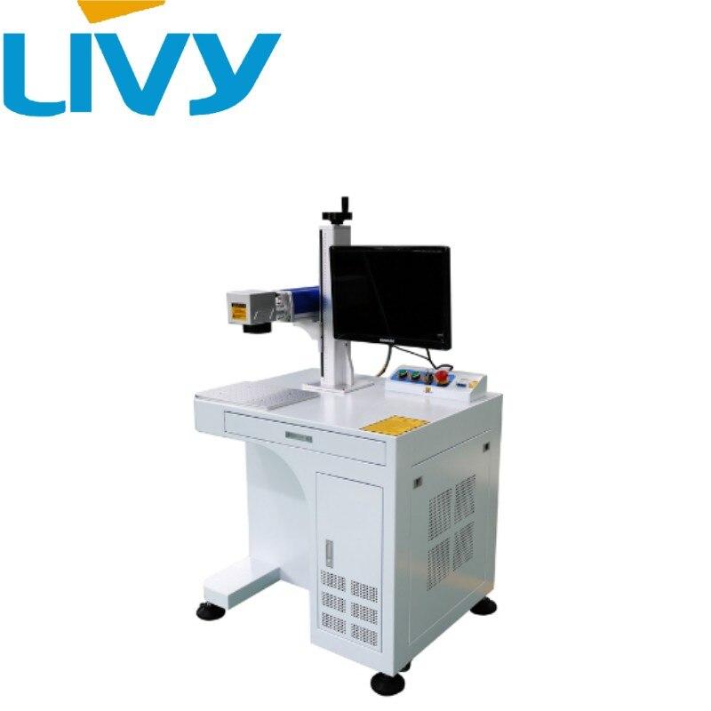 20 Вт/30 Вт/50 Вт большого объема производственной линии работу лазерная маркировочная машина для золото/серебро/ медь