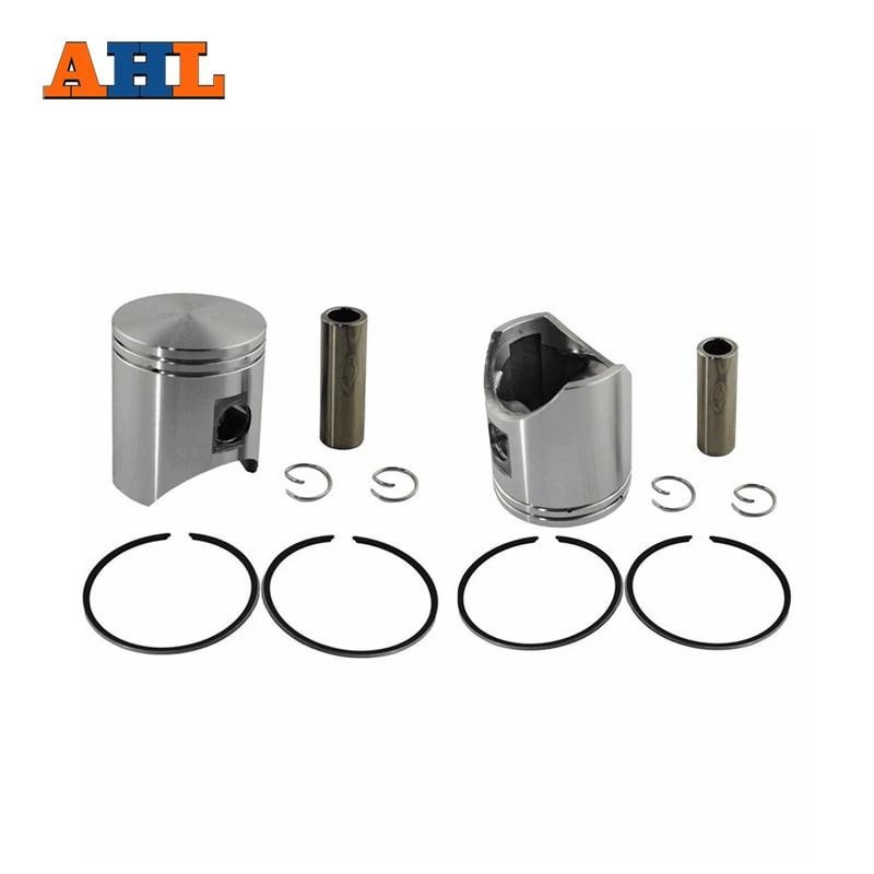 AHL 2 Ensembles STD Bore Taille 54mm Piston & Anneaux Kit pour HONDA NSR250 NSR 250 P1 P2 P3 Standard Piston et anneau