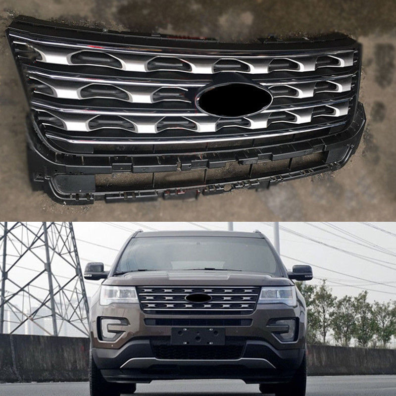 ABS Chromed Front Grill Grille Replace Cover Fit For Ford Explorer 2017 2018-in Racing Grills ...