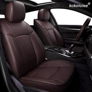 Kokololee de cuero cubiertas de asiento de coche para Mitsubishi PAJERO OUTLANDER EX ASX Grandis Eclipse Cruz galant Lancer Zinger auto