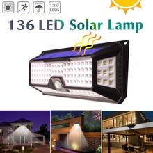3 Mode Waterproof 118/66/90 LEDs Solar Light Outdoor Garden Light PIR Motion Sensor Emergency Security Wall Solar Powered Lamp цена