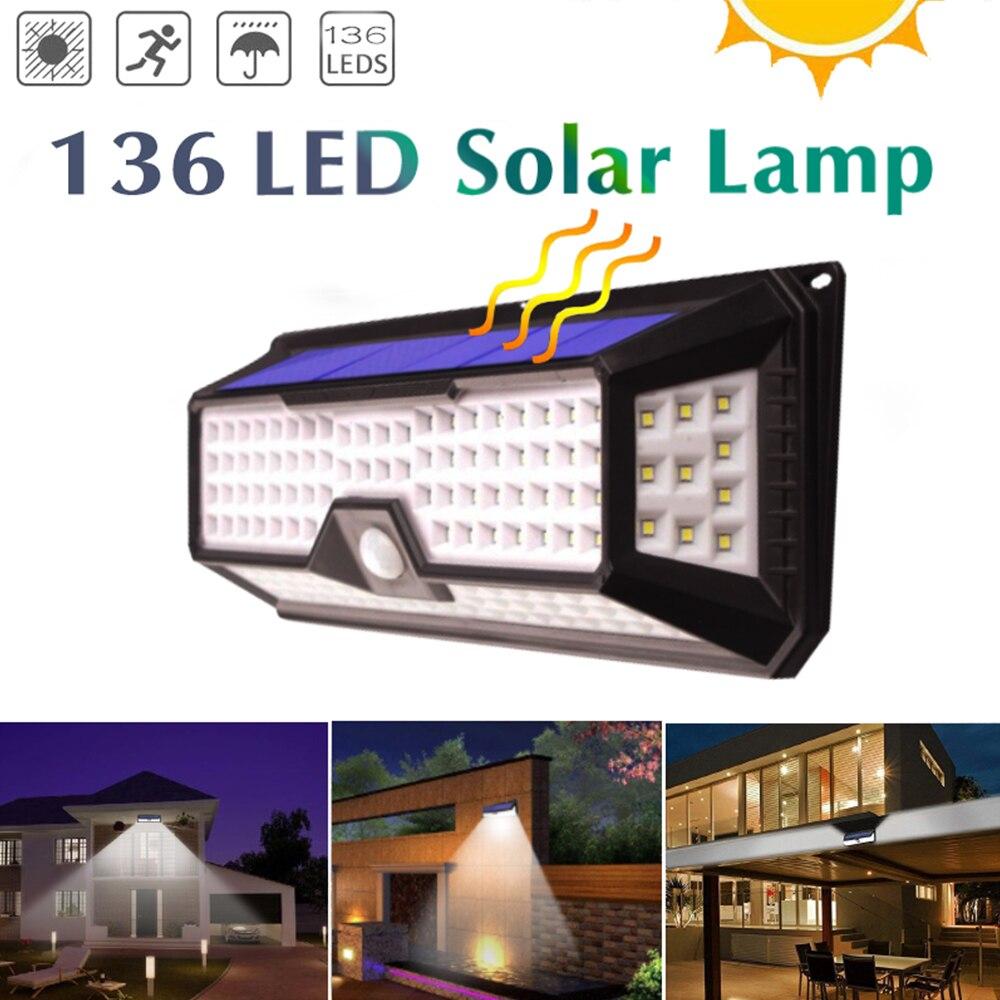 3 Mode Waterproof 268/136/128 LEDs Solar Light Outdoor Garden Light PIR Motion Sensor Emergency Security Wall Solar Powered Lamp