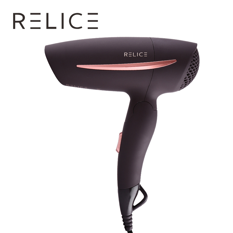 RELICE HD-101 Hair Dryer With Folding Handle Power 1200W Hanging Loop Overheating Protection Mini Travel Portable Drying Machine