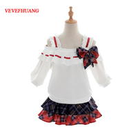 VEVEFHUANG Anime Love Live Nico Yazawa SR Card Unawaken Figure Cosplay Costume Lolita Dress Uniform For Halloween Free Shipping
