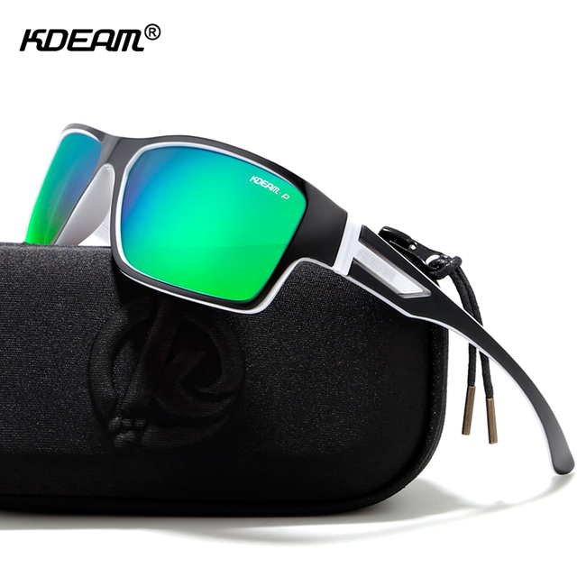 62118d82ca2 KDEAM Outdoor Polarized Sunglasses Goggles Men Sun Glasses 100%UV Zipper  Case Included Sports Eyewear KD510