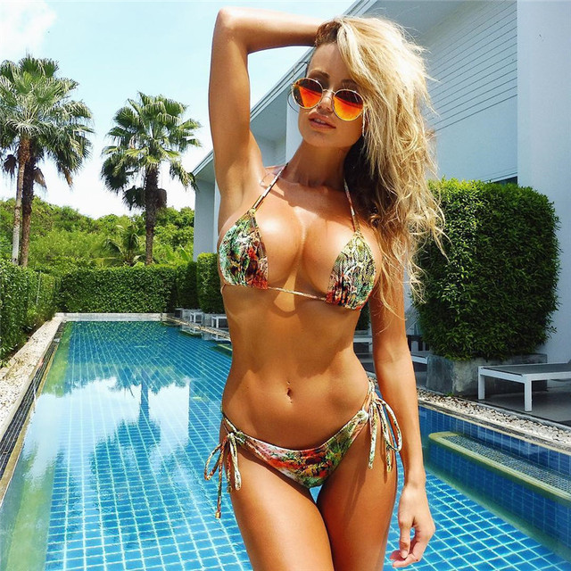 Bandage Bikini 2018 Sexy Swimwear Women Swimsuit Push Up Bikini Set Brazilian Bathing Suits Beach Wear Maillot De Bain Femme